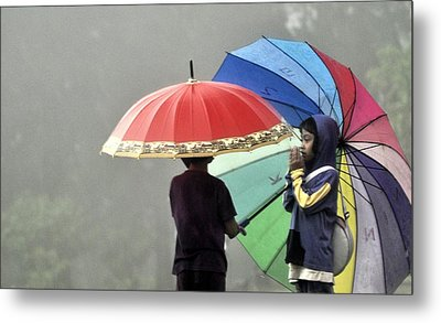 Umbrella For Rent Metal Print by Achmad Bachtiar