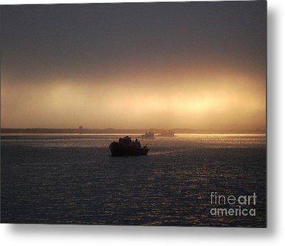 Umpqua River Sunrise Metal Print by Erica Hanel