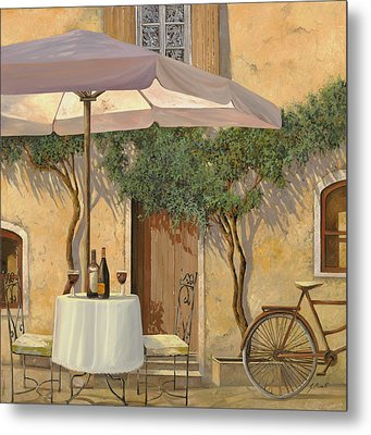 Un Ombra In Cortile Metal Print by Guido Borelli