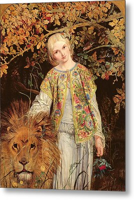 Una And The Lion, Exh. 1860 Metal Print