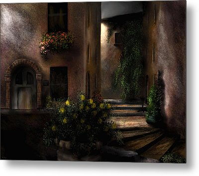Una Notte Tranquilla - A Quiet Night Metal Print