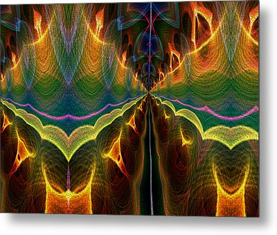 Unbalanced Mind Metal Print by Owlspook