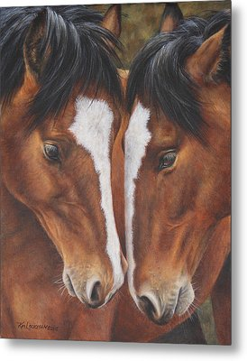 Metal Print featuring the painting Unbridled Affection by Kim Lockman