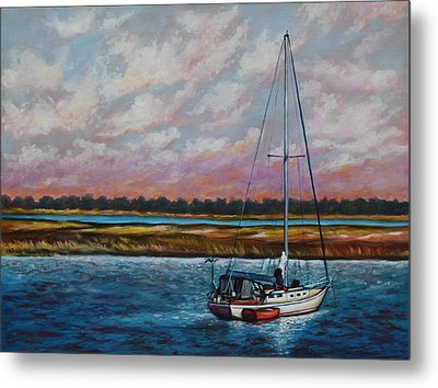 Uncharted Territory Metal Print by Eve  Wheeler