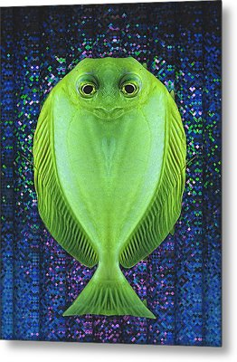 Uncle Fish Drops By For Dinner Metal Print by Wendy J St Christopher