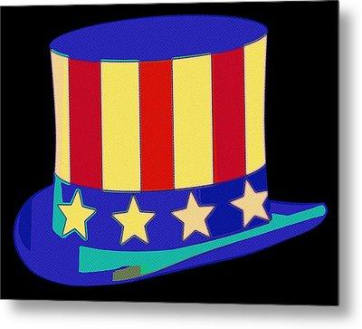 Uncle Sam Hat Pop Art Metal Print by Florian Rodarte