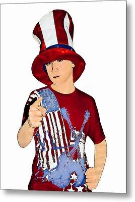 Uncle Sam Metal Print by Susan Leggett
