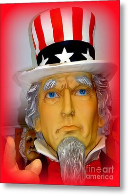Uncle Sam Wants You Metal Print