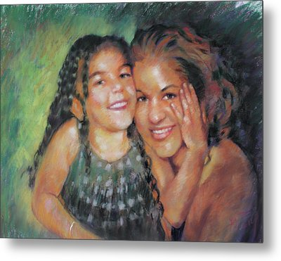Metal Print featuring the drawing Unconditional Love by Viola El