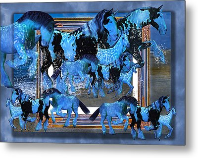 Unconfined World Confined Metal Print by Betsy Knapp