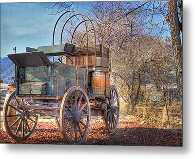 Uncovered Wagon Metal Print by Donna Kennedy