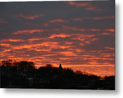 Metal Print featuring the photograph Under A Blood Red Sky by Neal Eslinger