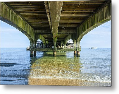 Under A Pier Metal Print by Svetlana Sewell