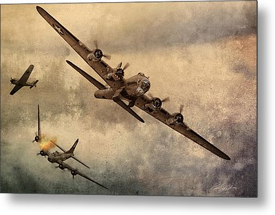 Under Attack Metal Print by Peter Chilelli