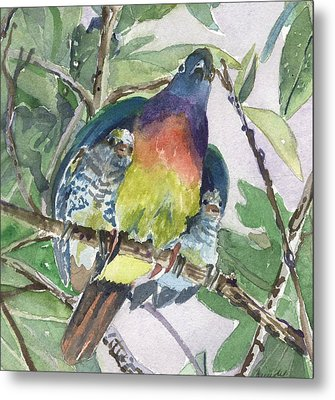 Under Her Wings Metal Print by Mindy Newman
