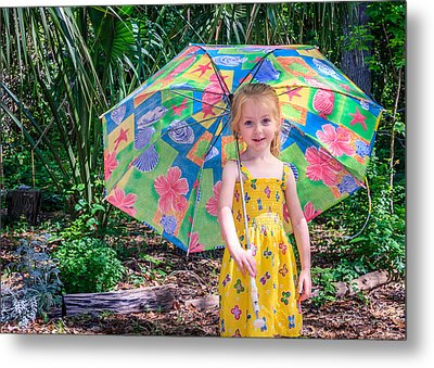 Metal Print featuring the photograph Under My Umbrella by Rob Sellers