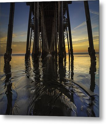 Under The Oceanside Pier 2 Metal Print by Larry Marshall