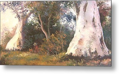 Under The Ancient Gum Tees Metal Print by Jan Matson
