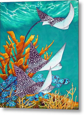 Under The Bahamian Sea Metal Print by Daniel Jean-Baptiste