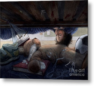 Under The Bed Metal Print by Isabella Kung