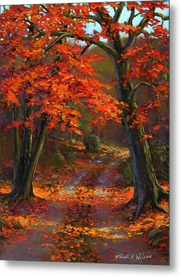 Under The Blazing Canopy Metal Print by Frank Wilson
