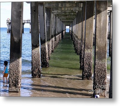 Under The Boardwalk Metal Print by Ed Weidman