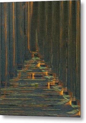 Under The Boardwalk Metal Print by Jack Zulli
