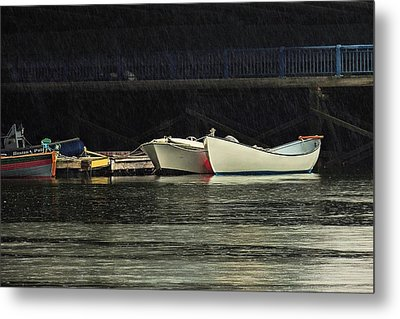 Metal Print featuring the photograph Under The Bridge by Laura Ragland