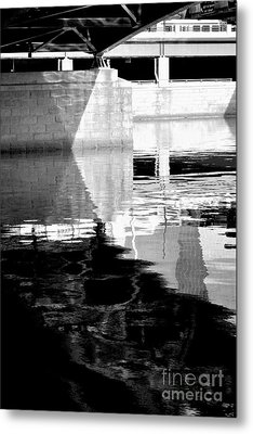under the bridge - the X Metal Print by Bener Kavukcuoglu