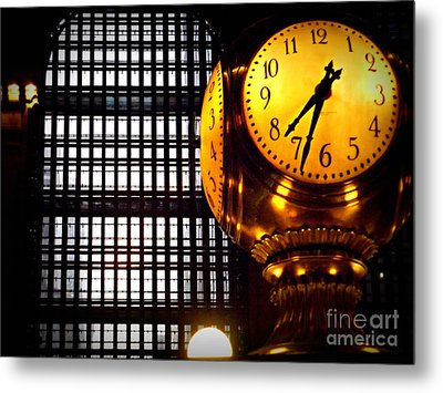 Under The Famous Clock Metal Print by Miriam Danar