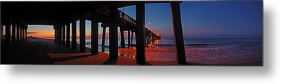 Under The Gulf State Pier  Metal Print by Michael Thomas