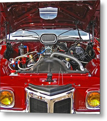 Under The Hood Metal Print by Ann Horn