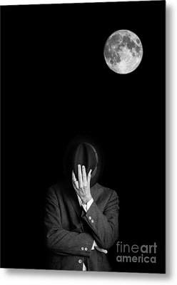 Under The Moonlight The Serious Moonlight Metal Print by Edward Fielding