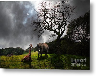 Under The Old Oak Tree - 5d21097 - Horizontal Metal Print by Wingsdomain Art and Photography