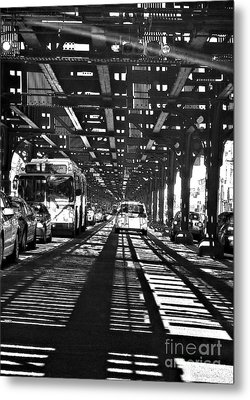 Under The One Train In The Bronx Metal Print by Sarah Loft