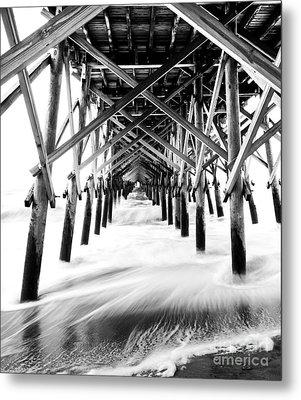 Under The Pier Folly Beach Metal Print