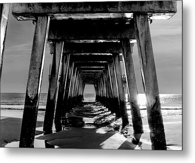 Metal Print featuring the photograph Under The Pier by Frank Bright