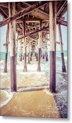 Under The Pier In Southern California Picture Metal Print by Paul Velgos