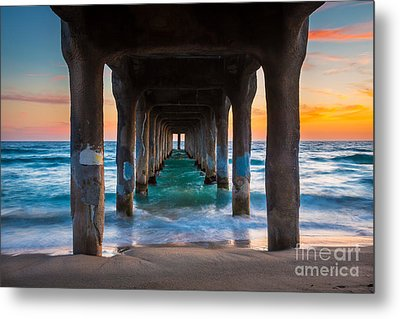 Under The Pier Metal Print by Inge Johnsson