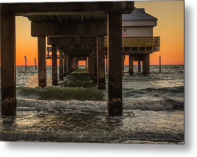 Under The Pier Metal Print by Jane Luxton
