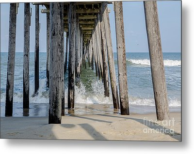 Under The Pier Metal Print by Kay Pickens