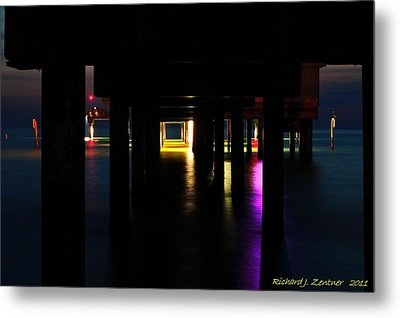 Metal Print featuring the photograph Under The Pier by Richard Zentner