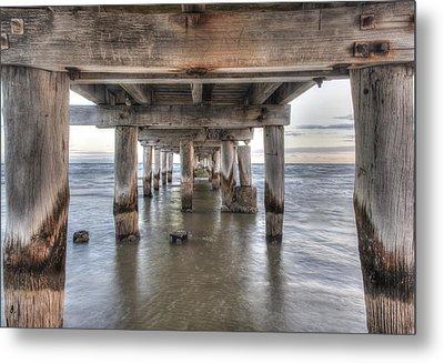 Under The Pier Metal Print by Shari Mattox