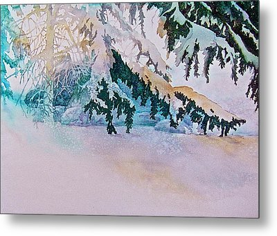 Under The Pines Metal Print by Carolyn Rosenberger