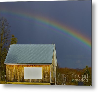 Metal Print featuring the photograph Under The Rainbow by Alice Mainville
