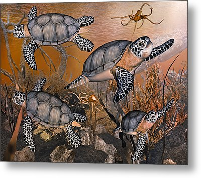 Under The Red Sea Metal Print by Betsy Knapp