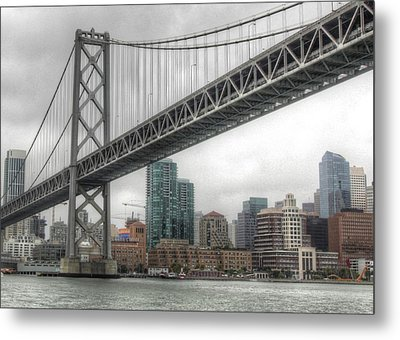 Under The San Francisco Bay Bridge Metal Print