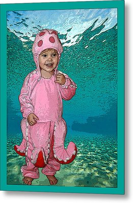 Under The Sea Metal Print by Ellen Henneke