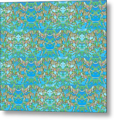 Under The Sea Horses Metal Print