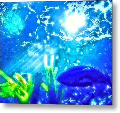 Under The Sea Illumination Metal Print by Tracie Kaska